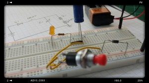 Capacitors and PushButton Circuit